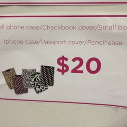 The cheapest items. Didn't see anymore passport cases, but there are definitely still checkbook covers in a camo-like print.