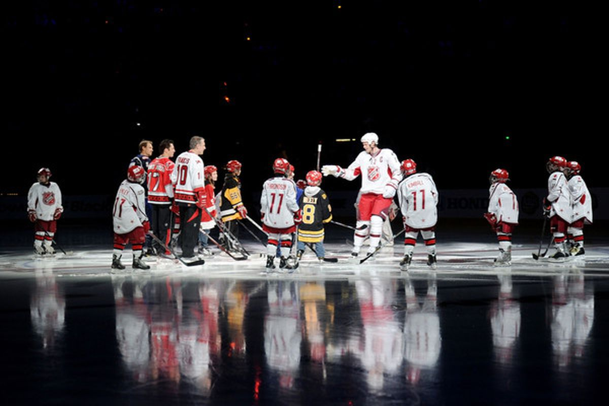 Today we learn that the Towering Giants on the Ice are the Eastern Conference, while the Islanders are those kids about to be pushed into the ice like the punks they are.