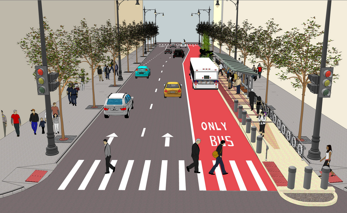 <small><strong>The Loop Link project is intended to allow some buses to move through downtown more quickly. | Artist's rendering courtesy of the CTA</strong></small>