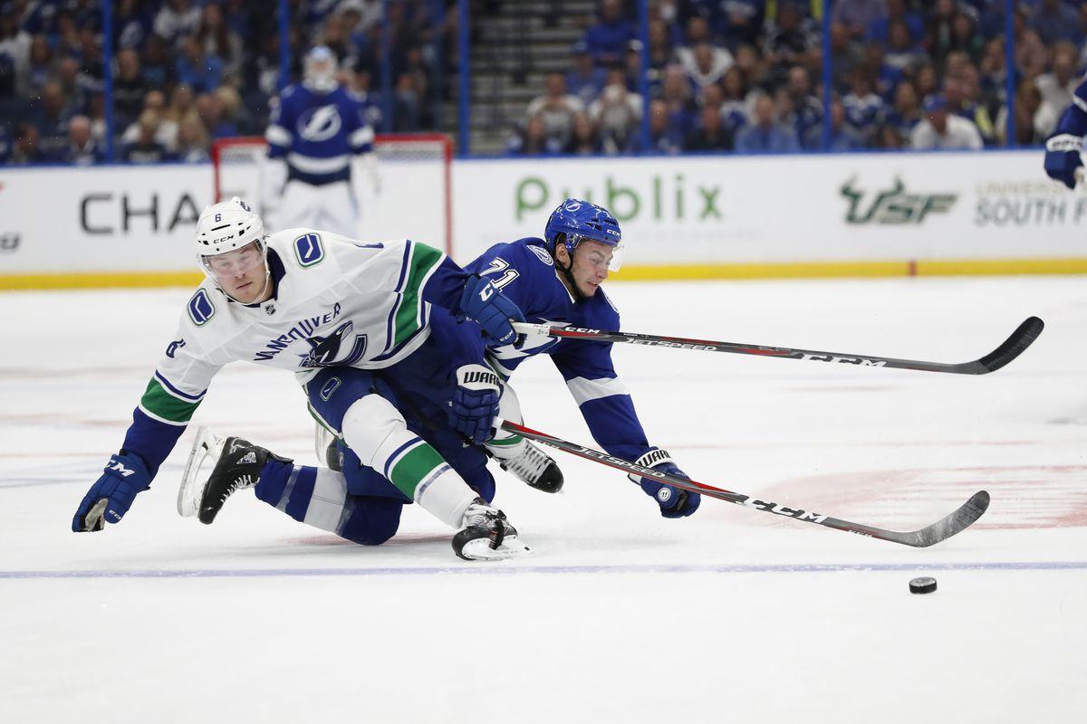 NHL: OCT 11 Canucks at Lightning