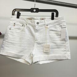 White shorts, $49 (were $138)