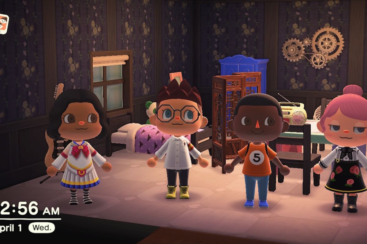 Some players in Animal Crossing.