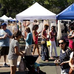 """<b>↑</b> No Fort Greene Saturday is complete without a trip to the <b><a href=""""http://www.brooklynflea.com/markets/fort-greene/"""">Brooklyn Flea</a></b> (176 Lafayette Avenue), since the market has become one of the city's most iconic shopping experiences."""