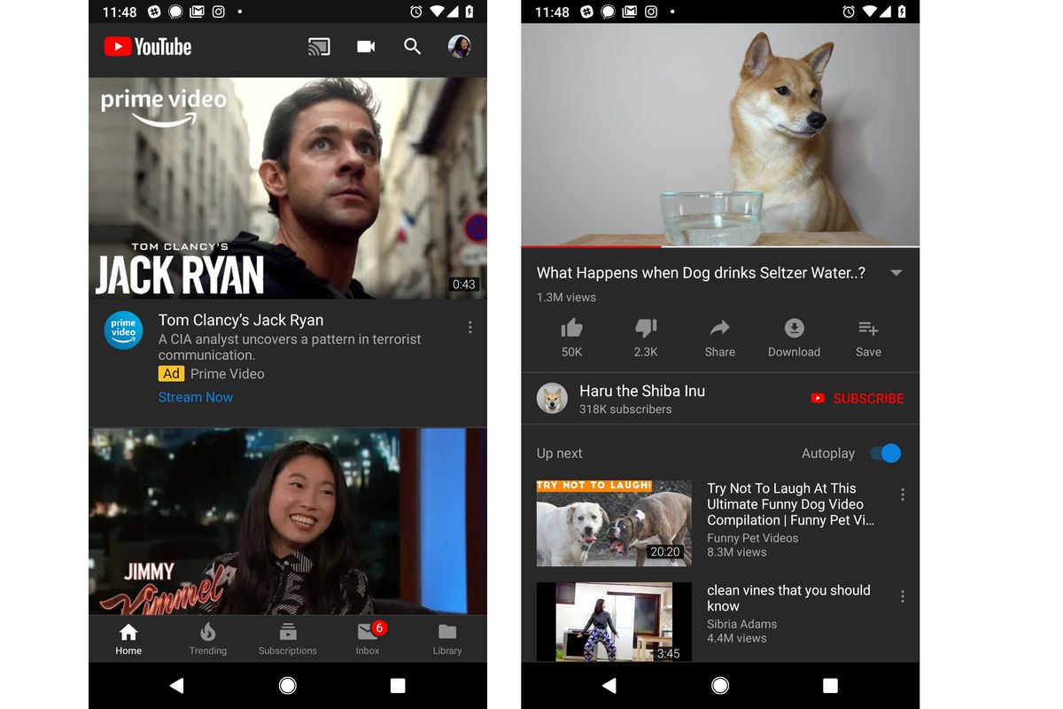 YouTube's dark mode is rolling out on Android, for real this time