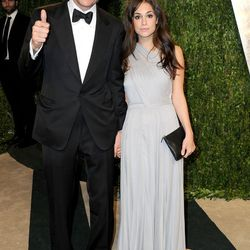 """Terry Richardson and his girlfriend, also known as the """"tiny Navajo"""" on HBO's <i>Girls</i>."""