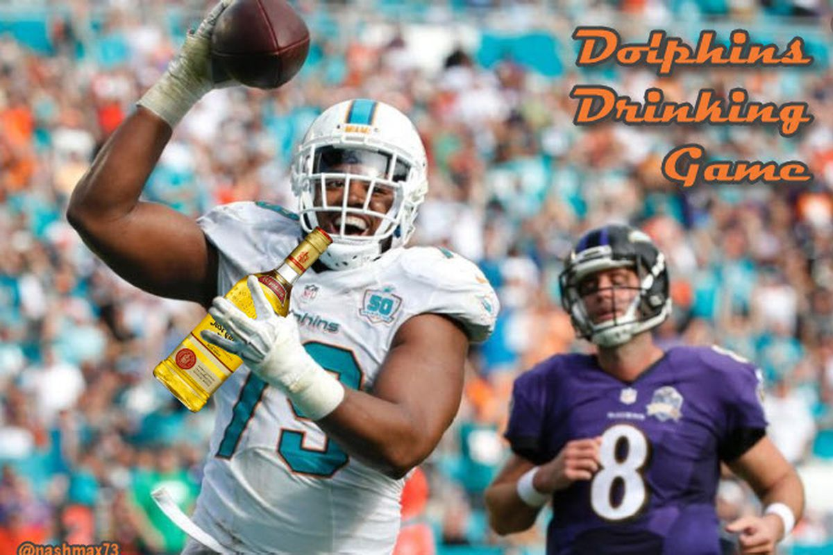 Dolphins Drinking Game - G1
