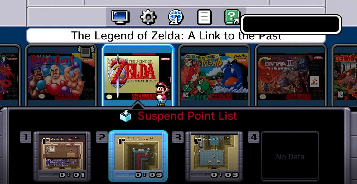 Save slots on the SNES Classic