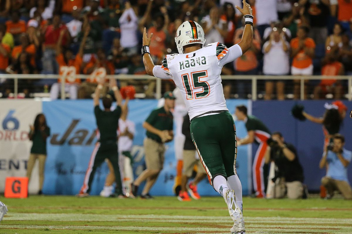 Brad Kaaya figures to do plenty of celebrating this year. Will it be his last year in Coral Gables?