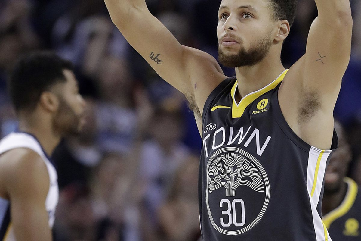 fd4738b77497 Golden State Warriors guard Stephen Curry gestures after scoring against  the Memphis Grizzlies in Oakland