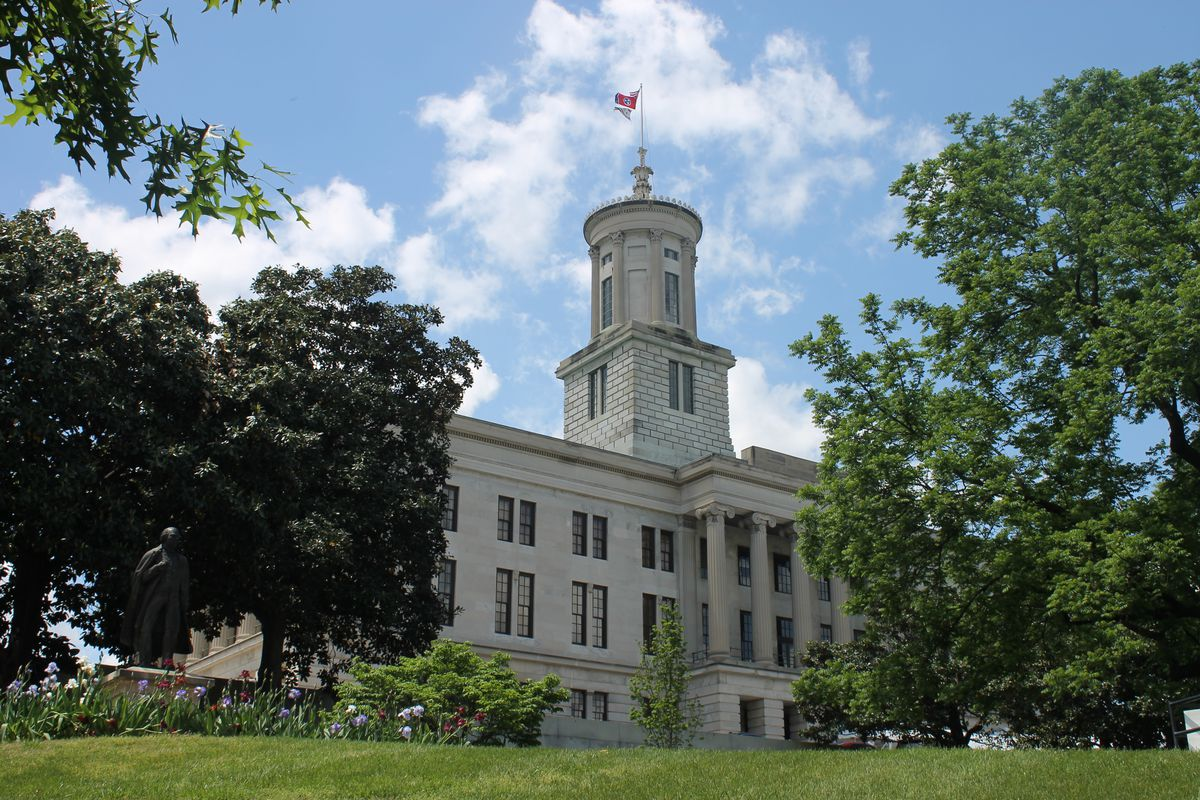 The State Capitol in Nashville is home to the the governor's office and Tennessee General Assembly.