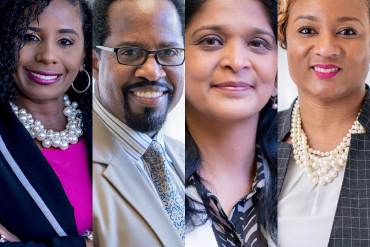 "From left, Yolanda Martin, Genard Phillips, Lakshmi Visvanathan, and Tutonial ""Toni"" Williams."