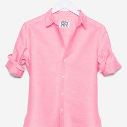 """The Boyfriend in bright-pink linen, <a href=""""http://doubler.com/collections/boyfriend/products/boyfriend-bright-pink-linen"""">$195</a>"""
