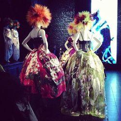 "Dolce & Gabanna paint-splattered gowns, via <a href= ""http://instagram.com/p/Y-TH2hFPrE/"">@jshi809/Instagram</a>"