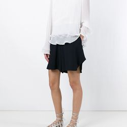 High-rise, draped shorts work great everything from a simple tee to a silk blouse.