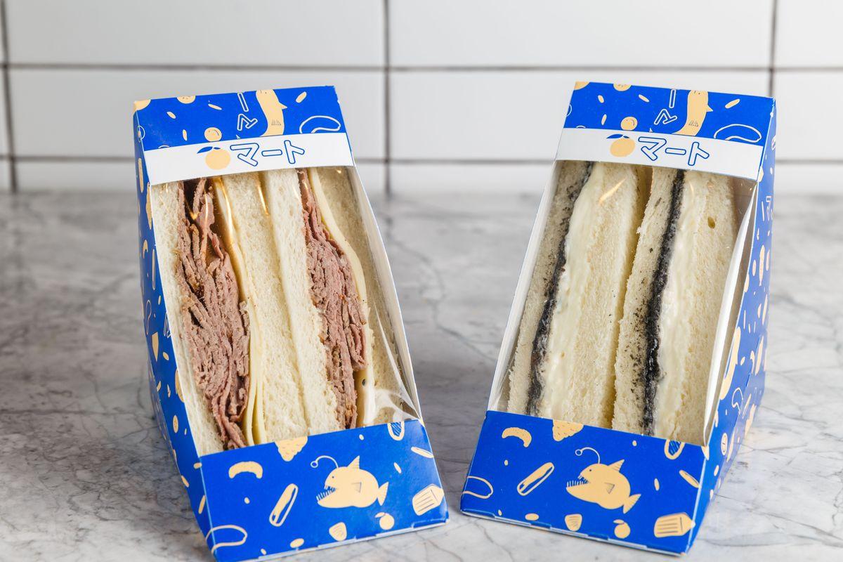 Peach Mart sandwiches