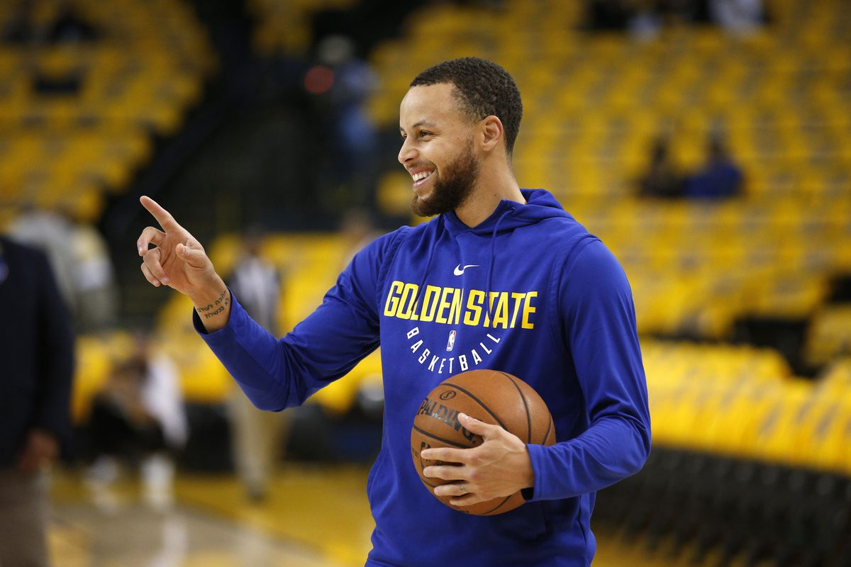 Image result for Stephen Curry will return from harm in Game 2 after the Warriors won Game 1 by 22