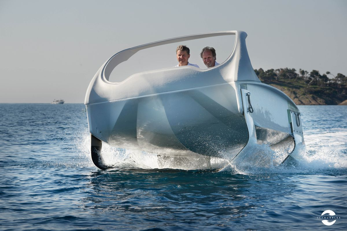 SeaBubbles The Adorably Named French Startup That Hopes To Be Uber For Water Taxis Has A New Prototype Show Off Boat Is Semi Production Ready