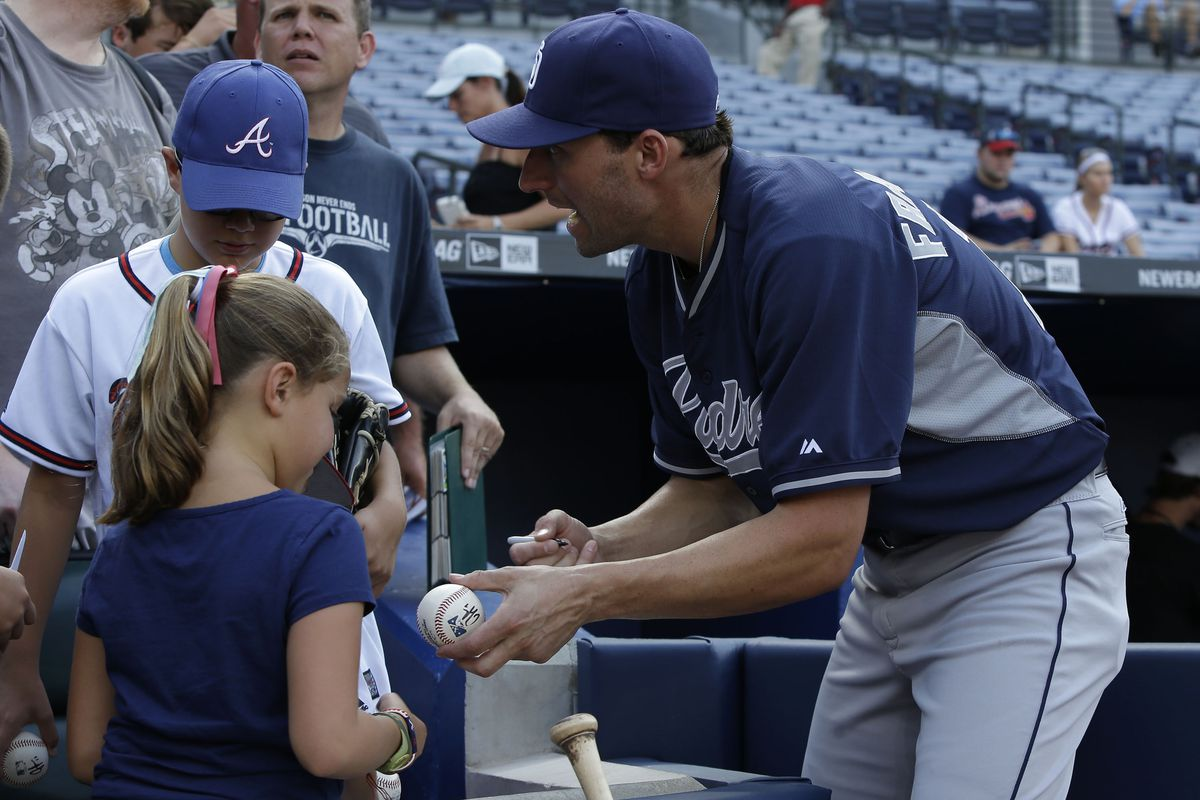 Jeff Francoeur is the most excited one in this picture, which is weird, since the kids are meeting JEFF FRANCOEUR