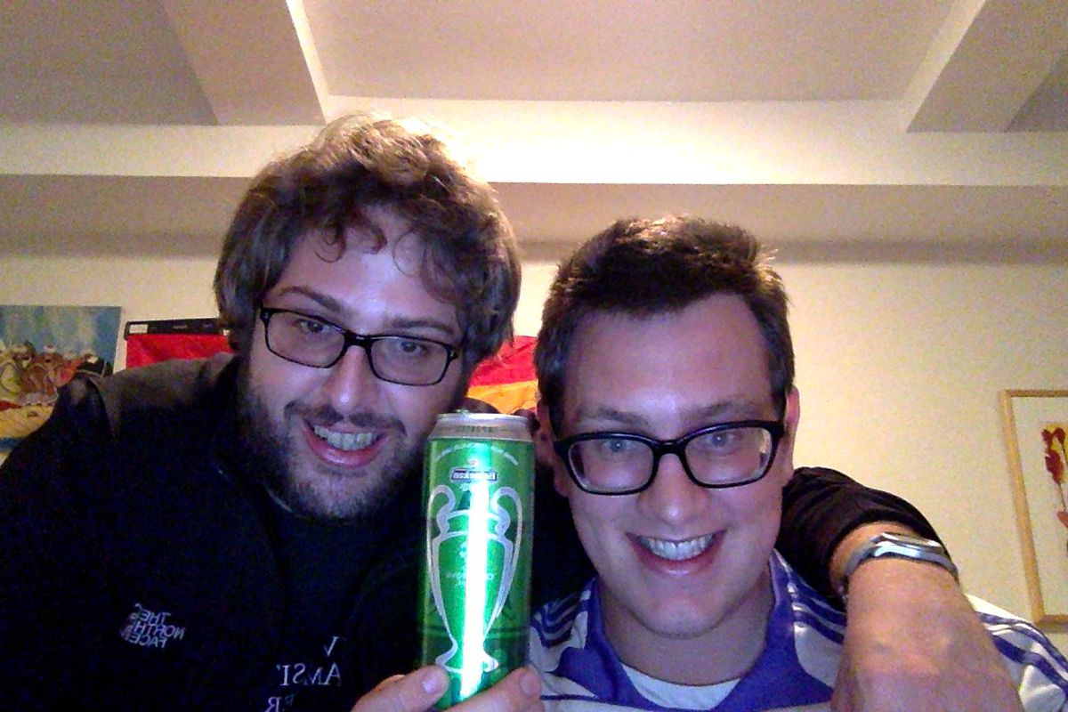 MM Podcast Hosts Josh Zeitlin (left) and Gabe Lezra (right) recap Madrid's historic win over Bayern