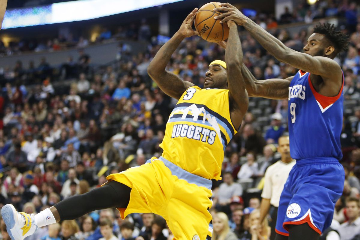 Ty Lawson has the ball snatched away by JaKarr Sampson