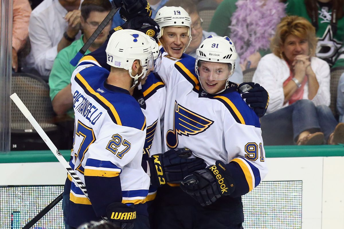 """Two """"graduated"""" prospects leading the way for the Blues in the present... who will do it in the years to come?  Photo by"""