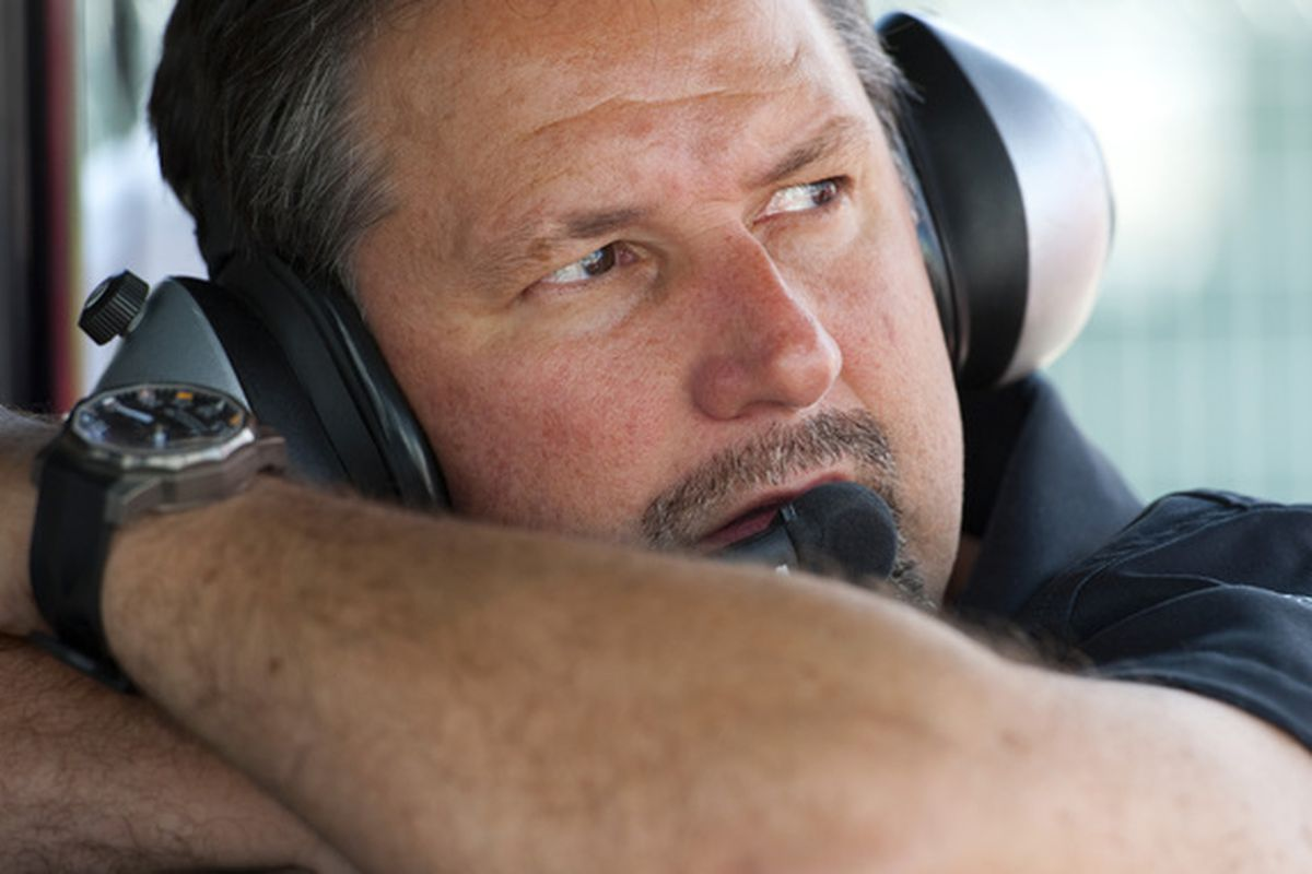 TORONTO - JULY 16:  Michael Andretti owner of the Andretti Autosport racing team watches during practice for the IZOD IndyCar Series Honda Indy Toronto on July 16 2010 in the streets of Toronto Canada.  (Photo by Robert Laberge/Getty Images)