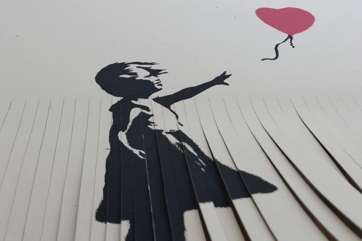 Please don't shred your own Banksy print unless you want it to be