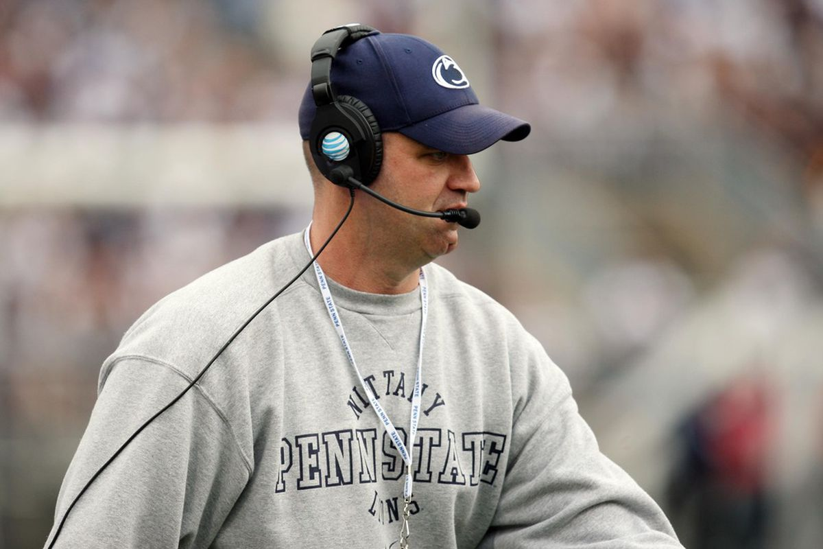 April 21, 2012; University Park, PA, USA; Penn State Nittany Lions head coach Bill O'Brien on the sidelines during the spring game at  Beaver Stadium.  Mandatory Credit: Rob Christy-US PRESSWIRE