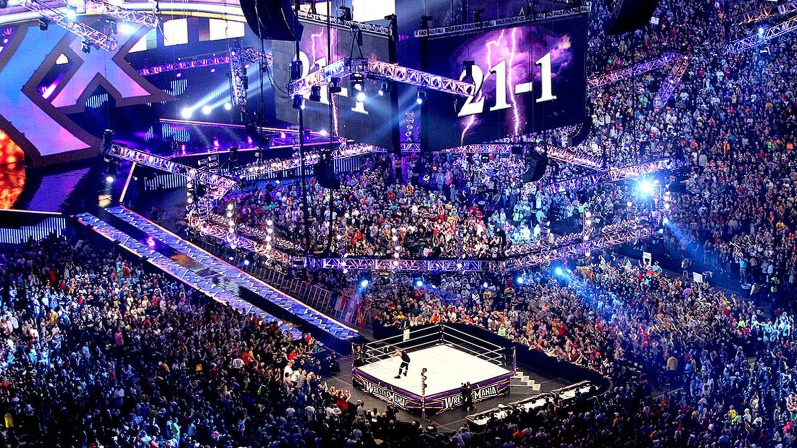 Wrestlemania 30 results record breaking night for wwe in for Mercedes benz superdome wrestlemania 30