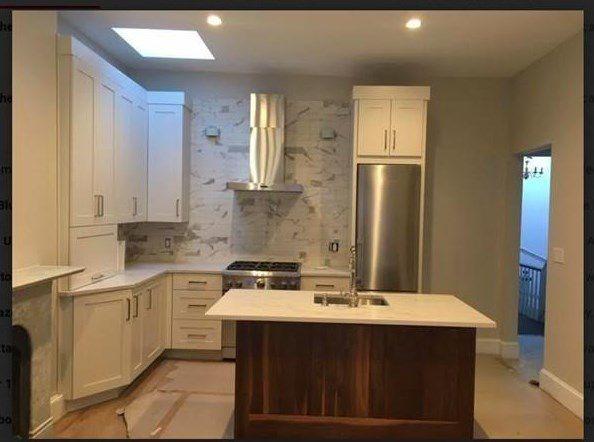 A wider shot of the same kitchen.