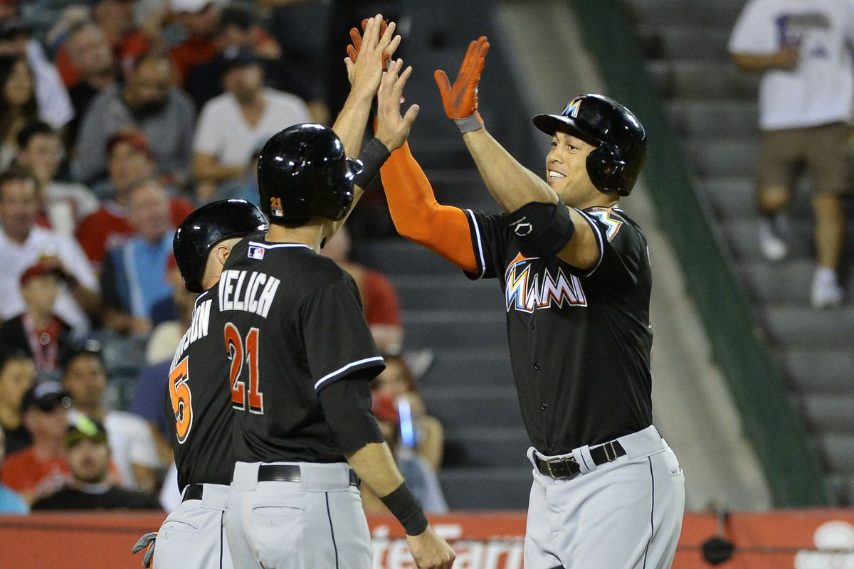Like it or not, the personnel surrounding Giancarlo Stanton may be set for some time.