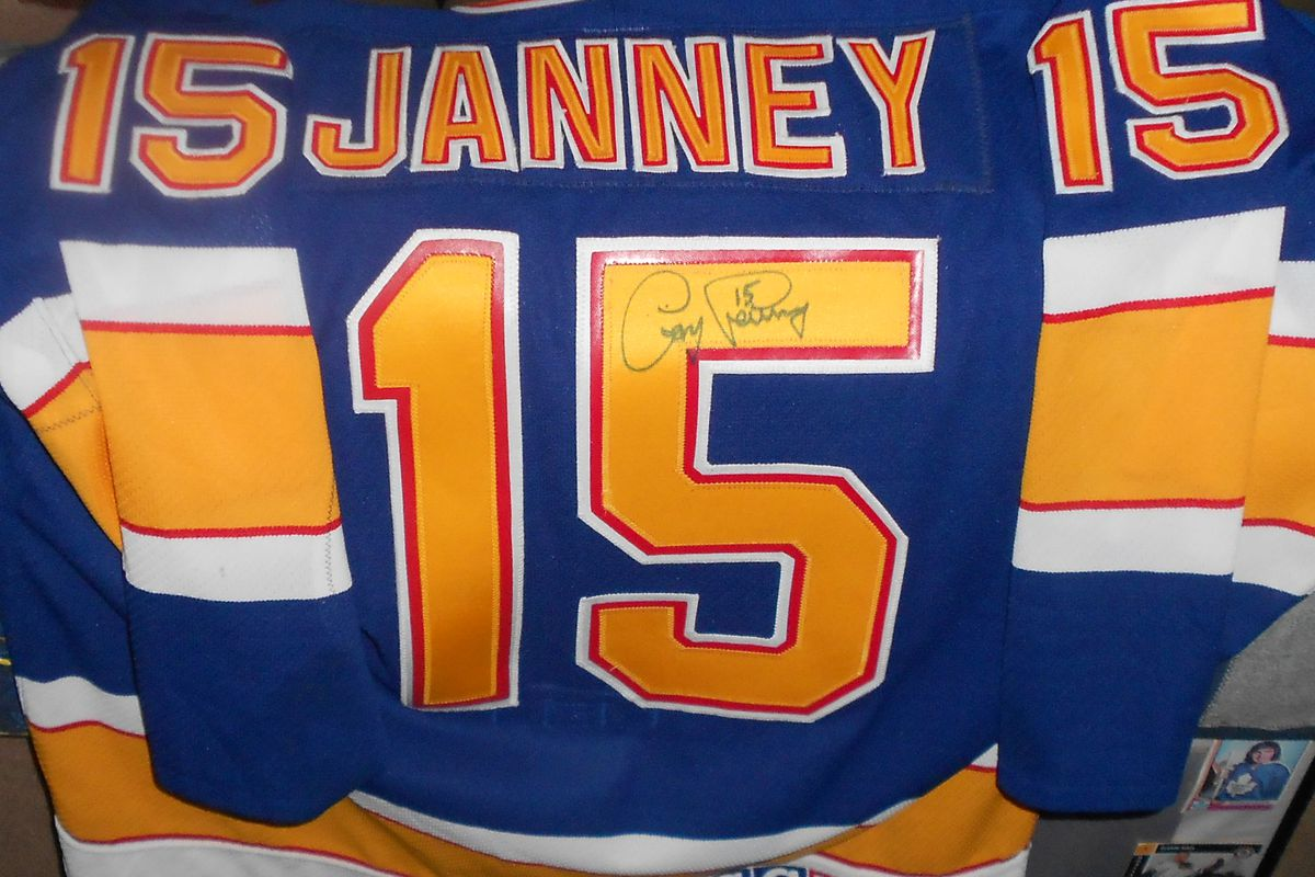 1993 Blues jersey worn and signed by Craig Janney