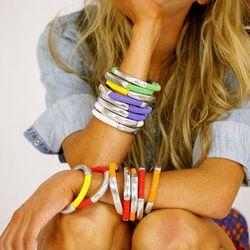 "Bracelets from <a href=""http://mikuti.com/"">Mikuti</a> are designed and produced in Tanzania."