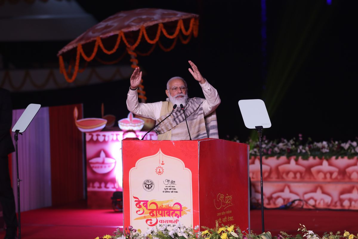 Indian prime minister Narendra Modi In Varanasi, India