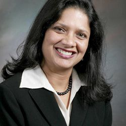 In an undated photo provided by Environmental Compliance Office, Vimala Anishetty, president of the environmental consulting firm is shown. It will take money to cure Detroit's most immediate ills, says Anishetty. She said she would review municipal union contracts and possibly relieve the nine-member City Council of its responsibilities.