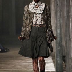 """Kilt style at Chanel, via <a href=""""http://www.style.com/fashionshows/complete/slideshow/2013PF-CHANEL/#40"""">Style.com</a>"""