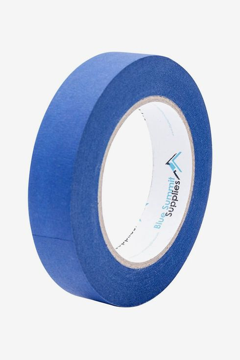 A roll of blue painters tape