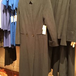 Apiece Apart long wool coat in navy, $180 (available in several sizes in this color and in light blue)