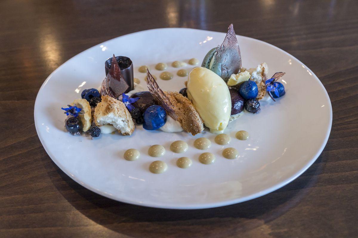 Blueberry desserts at Yonaka Modern Japanese