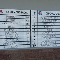 """A Cactus League tradition (even with the misspellings of """"Pollock"""" and """"Bonifacio"""""""