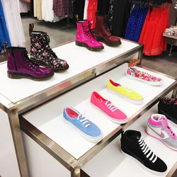 Docs, Keds and Nike wedge sneakers.