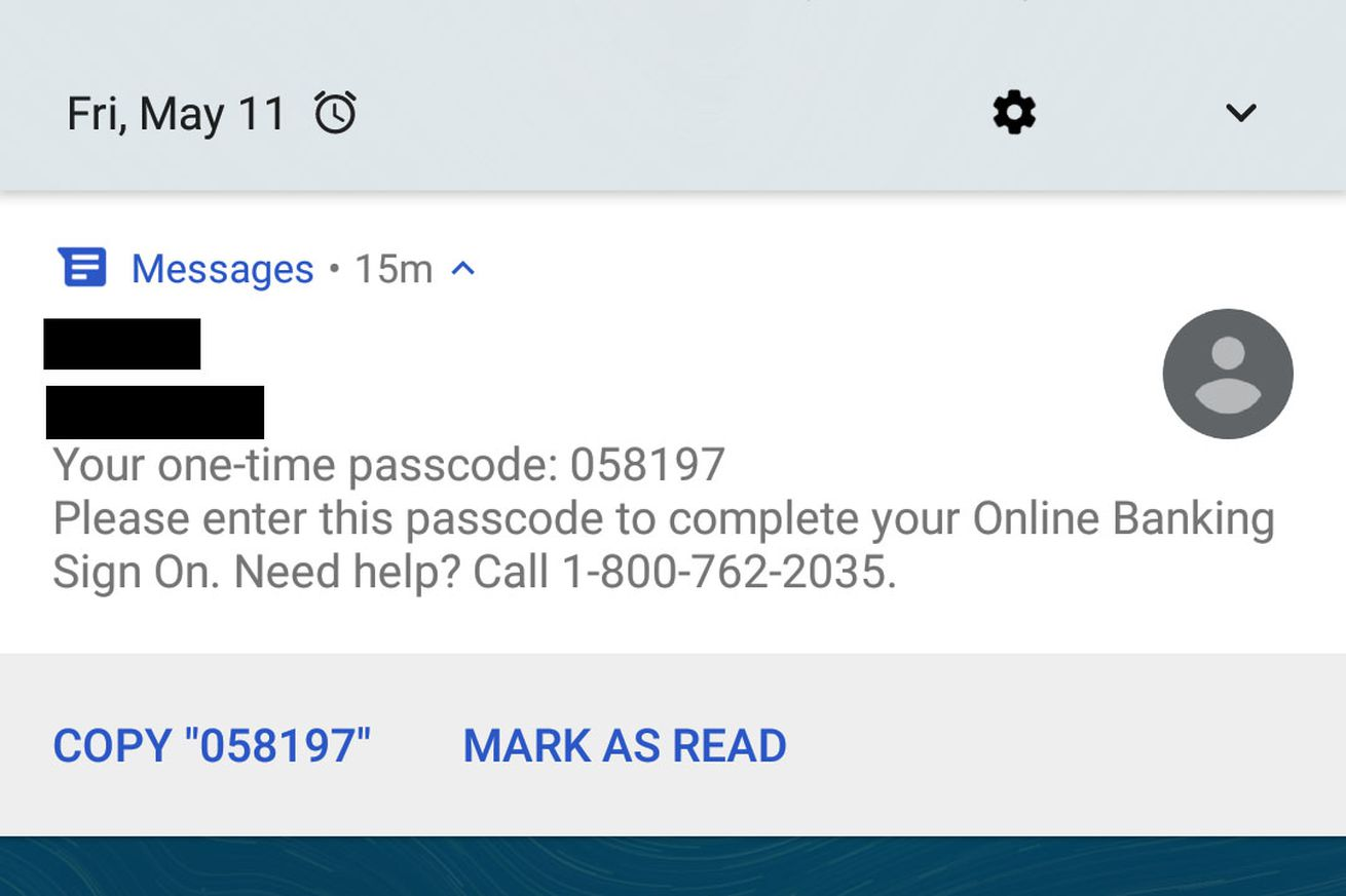 android messages now makes it really easy to copy two factor codes