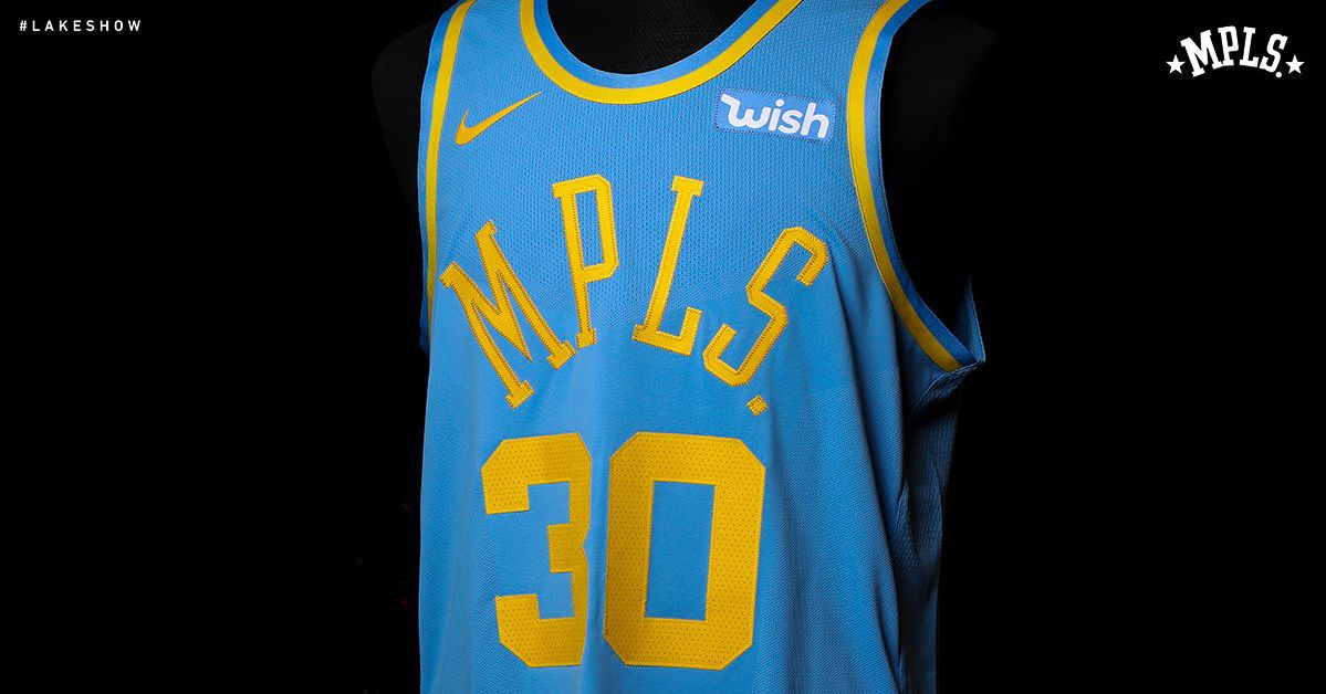 Lakers Officially Unveil Baby Blue Mpls Throwback