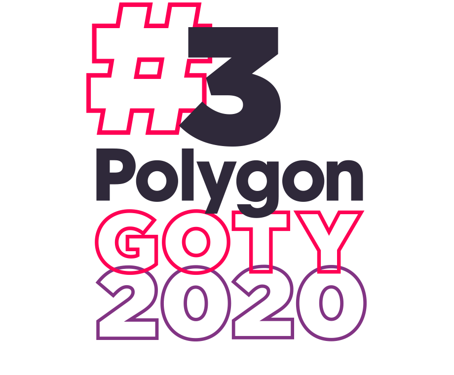 Graphic layout of the words #3 Polygon GOTY 2020