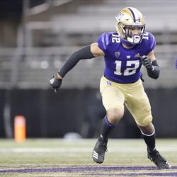 Washington wide receiver Puka Nacua in action against Oregon State during a game, Saturday, Nov. 14, 2020, in Seattle. Nacua, along with his brother Samson, who transferred from Utah, will bolster the Cougars' receivers depth.