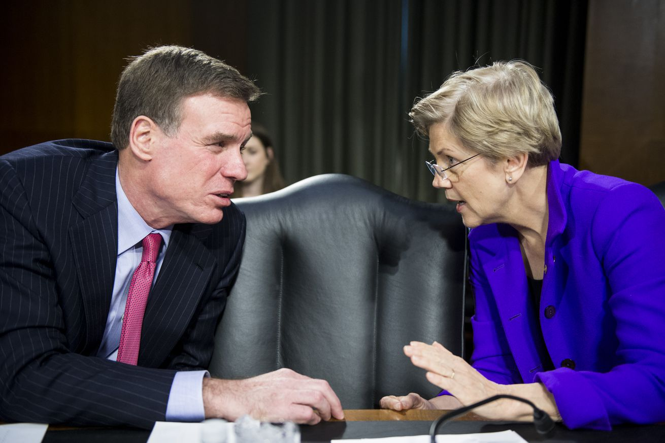 Sen. Mark Warner and Sen. Elizabeth Warren