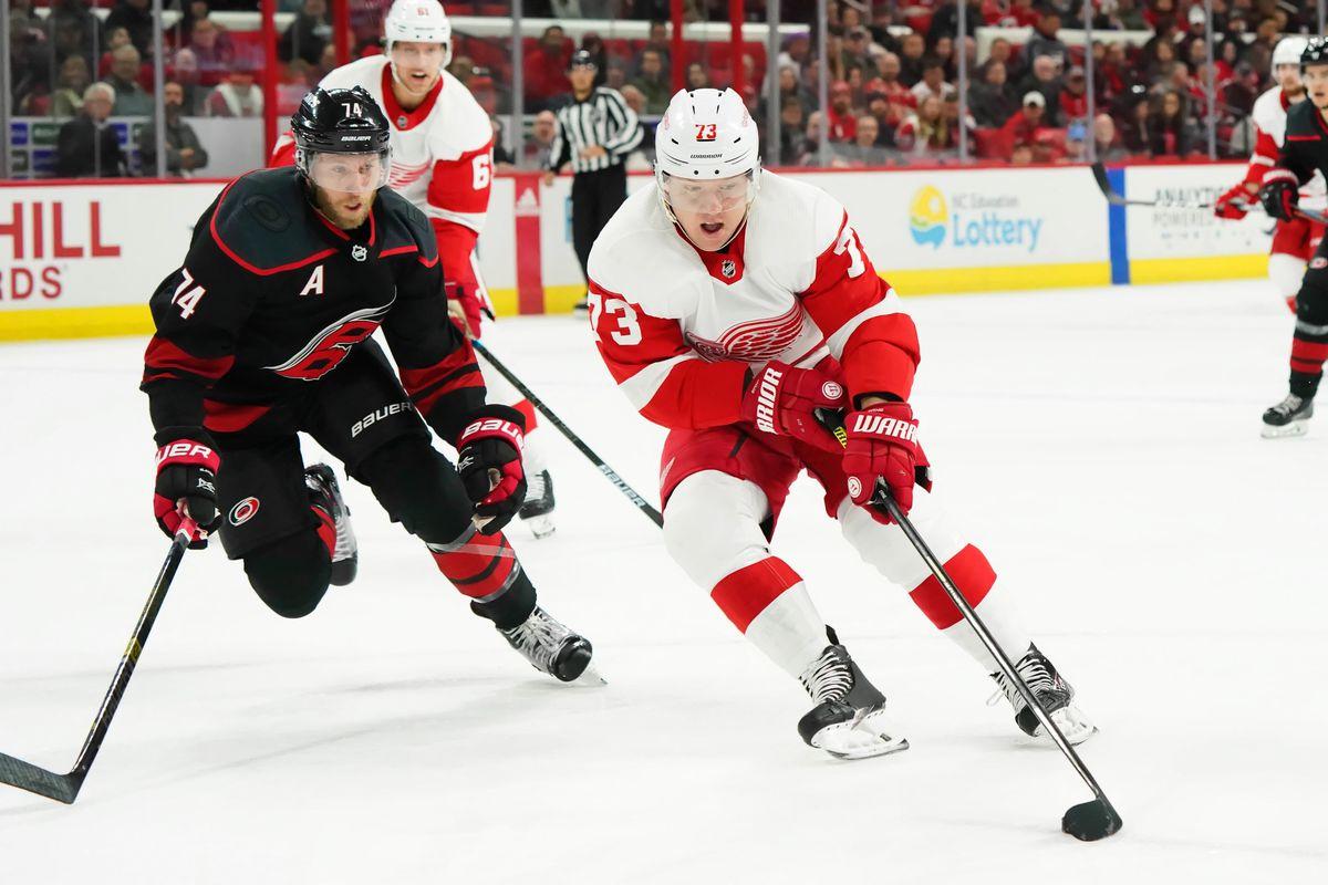 NHL: Detroit Red Wings at Carolina Hurricanes