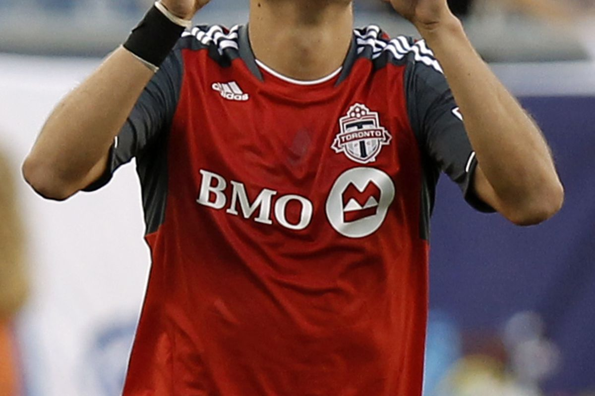 The future looks bright for Toronto FC rookie, Luis Silva.  (Photo by Winslow Townson/Getty Images)