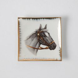 """Vintage Horse Plate, <a href=""""http://covetandlou.com/collections/home/products/vintage-horse-plate"""">$35</a>"""