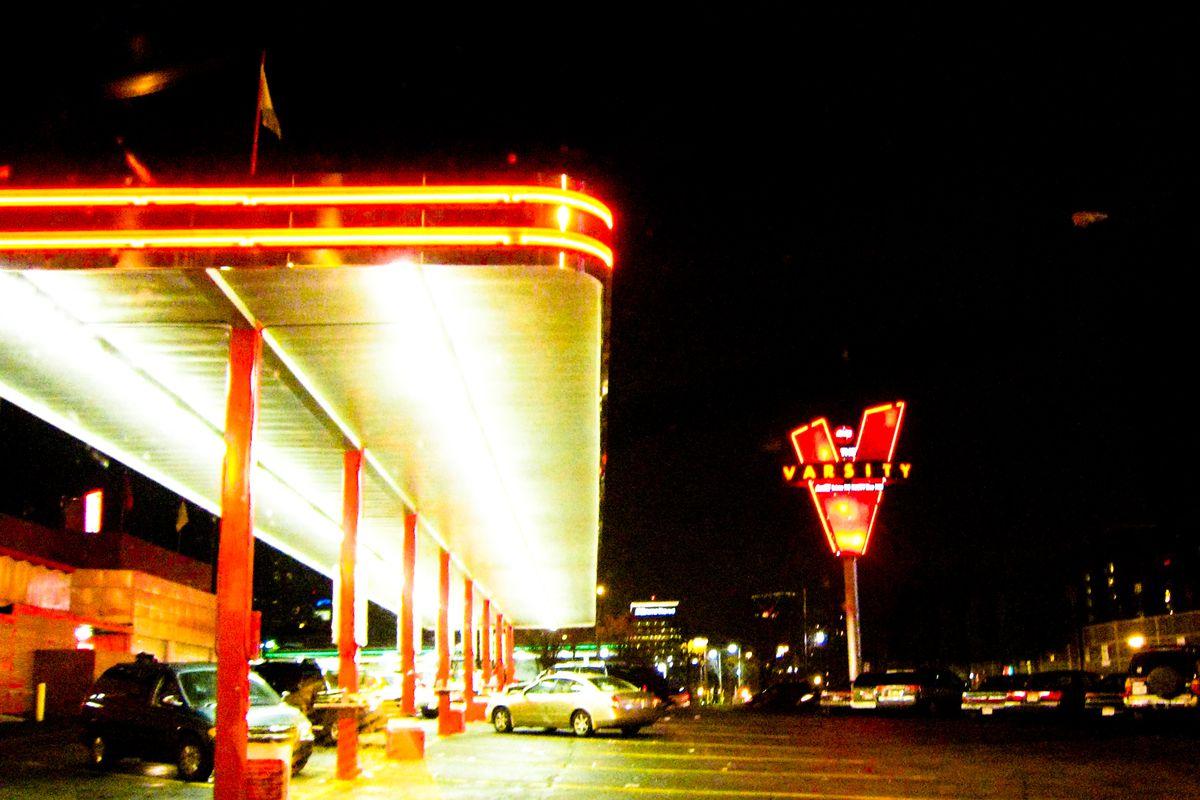 The Varsity's original Midtown restaurant.